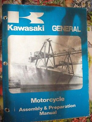 GENUINE KAWASAKI GENERAL MOTORCYCLE ASSEMBLY & PREPARATION MANUAL 1980 KE KX KDX