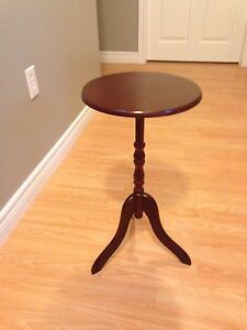 Wooden stand cherry finish about 28""