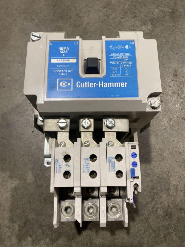 CUTLER-HAMMER AN16NN0 SERIES A1 SIZE 4 MOTOR STARTER W/ 10-6530-4 OVERLOAD