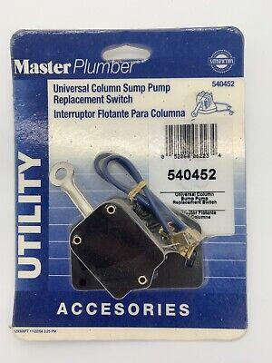 Master Plumber 540452 Pedestal Sump Pump Replacement Float Switch Column