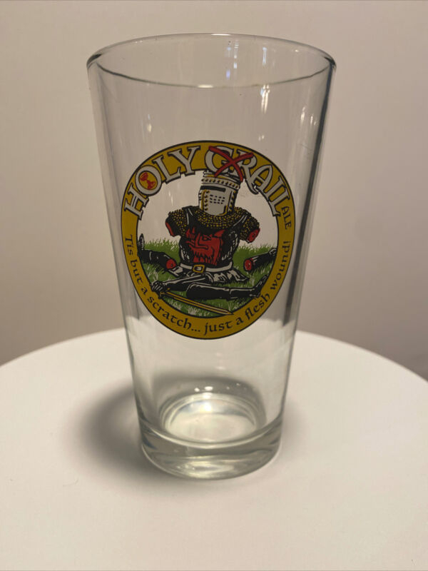 HOLY GRAIL ALE 16oz PINT GLASS KNIGHT