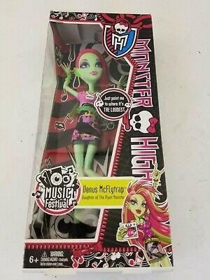 NEW IN BOX Monster High Venus Mcflytrap Music Festival Doll Toy Gift Mattel ](Music Festival Toys)
