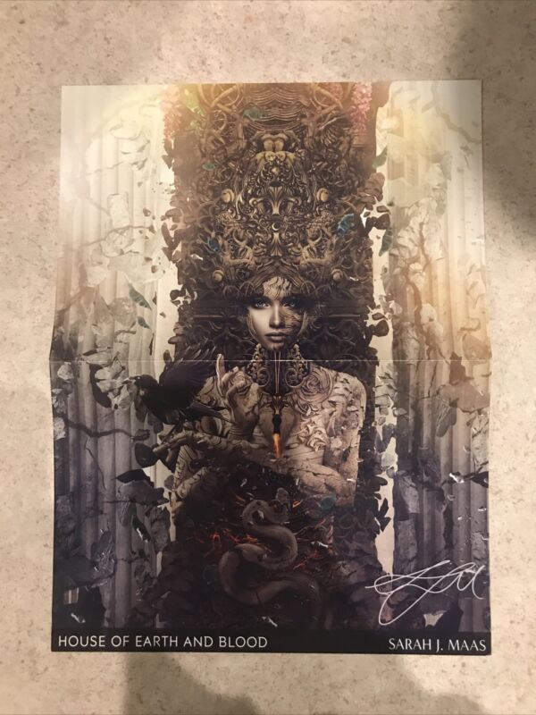Crescent City Preorder Poster Sarah J. Maas House of Earth and Blood Pre-order