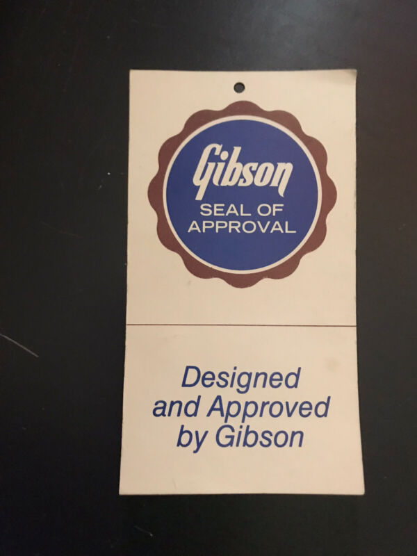 Gibson Vintage Seal Of Approval Hang Tag 70's 80's