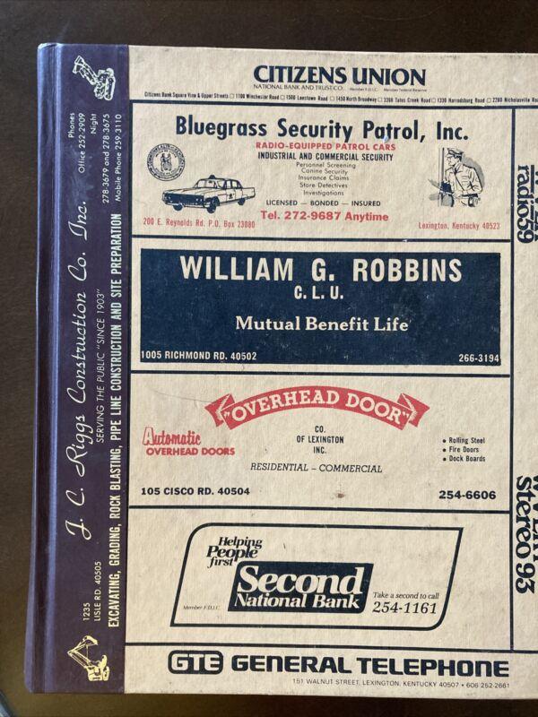 1979 Polk's Lexington, Kentucky City Directory Address Book Genealogy