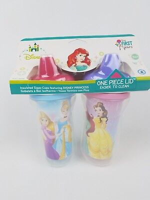The First Years Disney Princess Insulated Sippy Cup 9 Oz Baby Cup (Baby 2pk Sippy Cups)