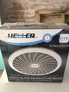 Heller 200mm White Bathroom Exhaust Fan (New) Randwick Eastern Suburbs Preview