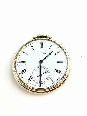 Vintage Elgin Gold Filled Hunt Case Pocket Watch - 4362