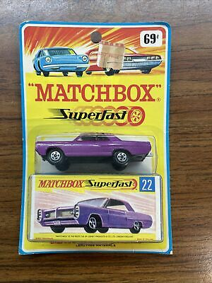 Matchbox Lesney Superfast #22 Pontiac GP Coupe Metallic Purple On Card Blister
