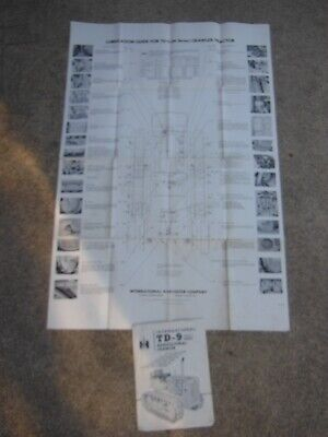 International Harvester - Td-9 91 Series Crawler Tractor - Lube Chart 1940s