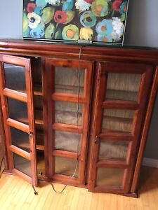 China Cabinet and Dining Table