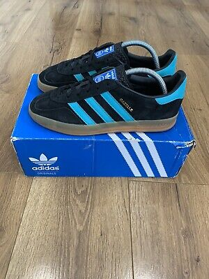 Adidas OG Gazelle Indoor Black Aqua Gum UK7 Koln Berlin Dublin London