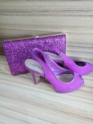 Ladies sling back Shoes Size 4 purple with FREE bag