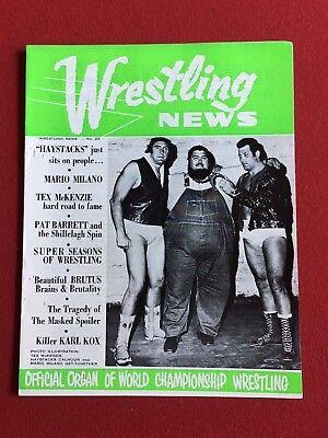 1971  Haystacks Calhoun   Wrestling News   Scarce