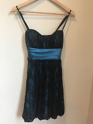 Speechless Formal Dress Empire Waist Sash Cocktail Party Black Lace Size S Empire Waist Sash