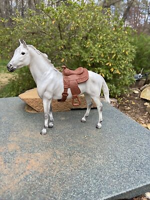 Breyer Horse Six Inches White/grey With Saddle