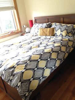 Timber bed frame - queen size