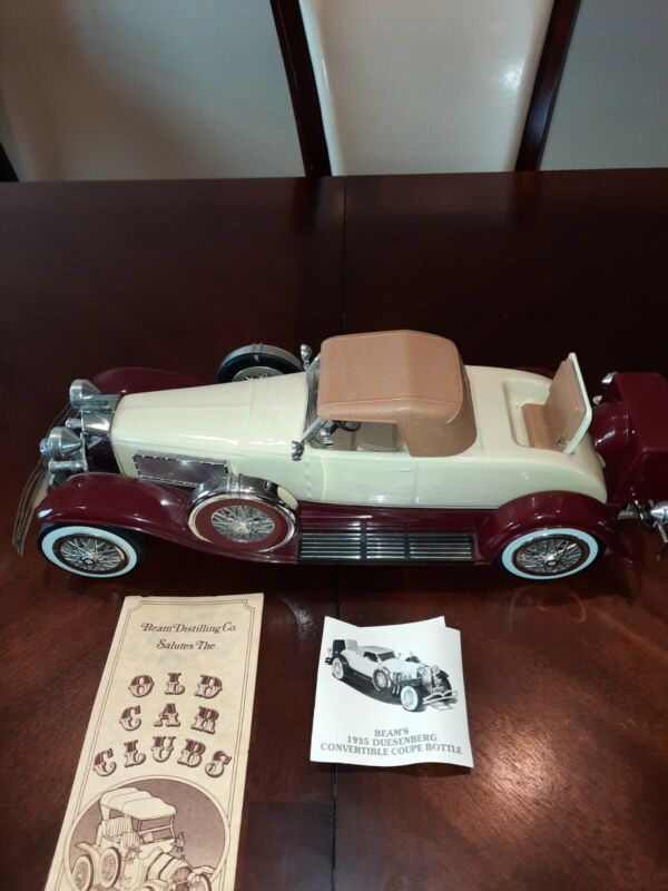 Vintage Jim Beam 1935 Duesenberg Car Decanter First Edition 1983 original box