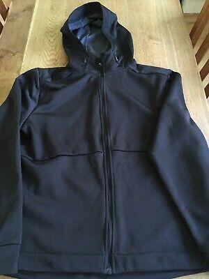 Admiral Hooded Jacket Size Medium Black With Grey Fleece Lining