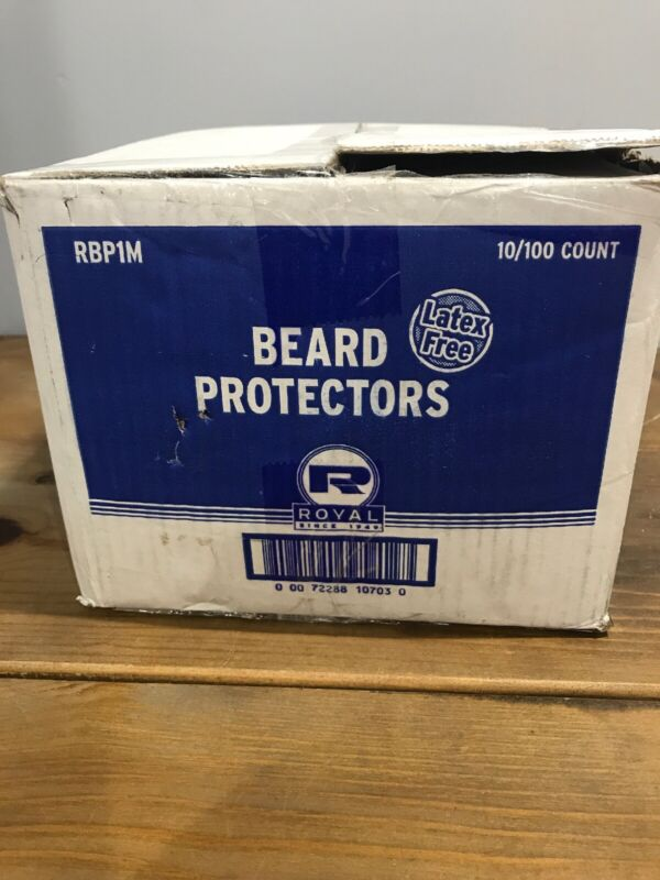 Royal White  Disposable Beard Protectors, Case of 1,000