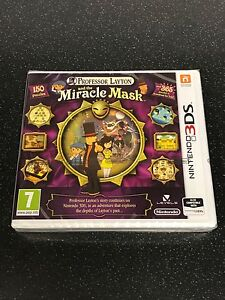 Professor Layton and the Miracle Mask - New & Sealed PAL Nintendo 2DS 3DS & XL