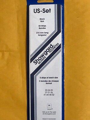 SHOWGARD STAMP MOUNTS US1- ASSORTMENT OF 50 215MM STRIPS