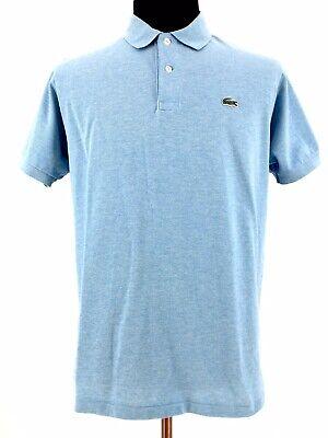 Lacoste Mens Short Sleeve Sky Light Blue Classic Fit Golf Polo Shirt Size 6 XL