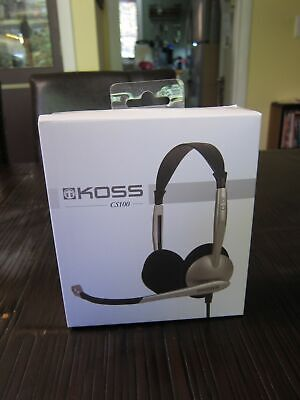 Koss CS100 gaming headset PC brand new sealed box wired MIC Speech Recognition
