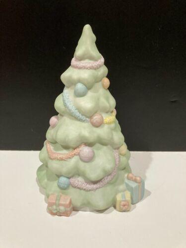 "VINTAGE 1985 Precious Moments Christmas Tree ""Silent Night"" Holiday Music Box"