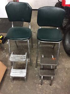 Antique tall chairs and stools