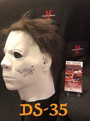 DON SHANKS HALLOWEEN AUTO SIGNED MASK! JSA COA! MICHAEL MYERS! H5! HORROR! - Michael Myers Mask Halloween 5