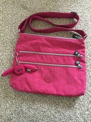 Kipling Women's Alvar Nylon Cross Body Bag - Very Berry