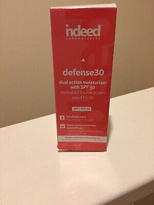NEW Indeed Laboratories Moisturisers Defense30 Moisturiser 30ml