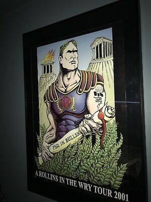 Henry Rollins signed Poster Rollins in the Rye PHD in Bullsh