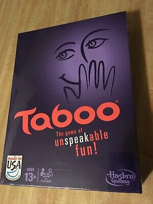 Taboo Board Game - The Game of Unspeakable Fun by Hasbro (NEW) for sale  Shipping to Canada