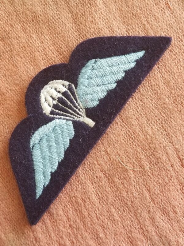 British RAF Royal Air Force Parachute Airborne Jump Wings Wool A Real One