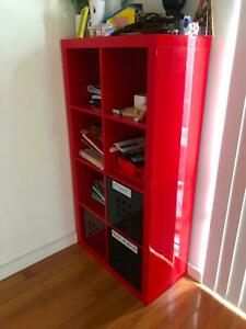 CHILDRENS BOOK SHELF-WITH LARGE DRAWERS AT BASE