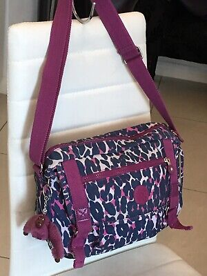 💜 KIPLING BAG WITH MONKEY 🐒 SHOULDER CROSS BODY HANDBAG LOTS POCKETS ❤️