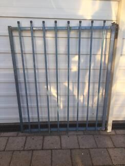 Old Tube Metal Gate with Wall Post
