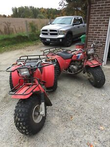 Two Honda ATCs for sale