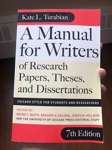 A Manual for Writers of Research Papers, Theses