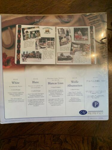 NIP Retired Creative Memories 12x12 White Pages Original 15 sheets 30 multiples