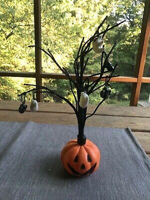 Halloween Tree with Ornaments Ghost Bat pumpkin. ?? Hallmark