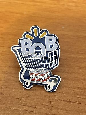 Rare Walmart Lapel Pin BOB  Bottom Of Buggy Wal-mart Pinback