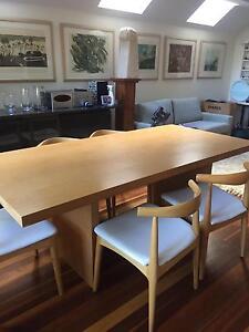 Dining table oak veneer Bondi Junction Eastern Suburbs Preview