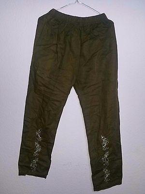 Indische Jeans (Indische Hose Pajama Jeans mit Strickerei Boho Goa Größe M/L)