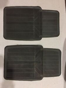 Charcoal gray Front Winter floor mats