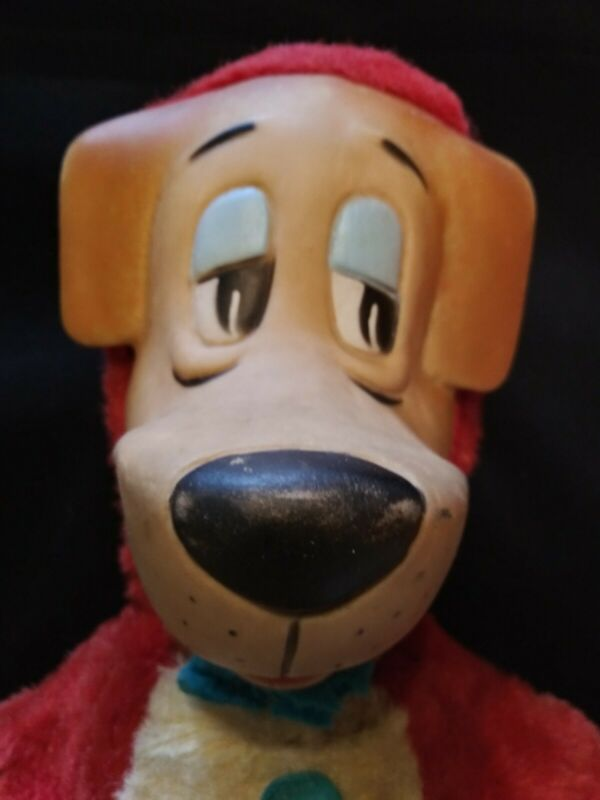Vintage 1959 HANNA BARBERA Knickerbocker HUCKLEBERRY HOUND Plush Stuffed Toy 17""
