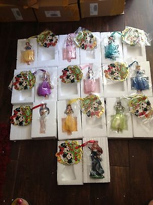 2012 Disney Princess Sketchbook ornaments set of 8