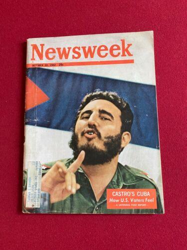 "1962, Fidel Castro, ""Newsweek""  Magazine (Scarce / Vintage)"